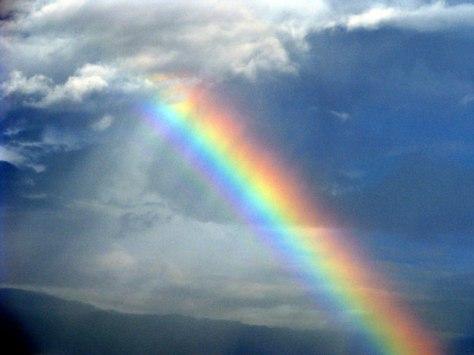 Enhanced Rainbow by Barb Ver Sluis--Public Domain Pictures